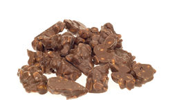 Chocolade met pinda's Stock Foto