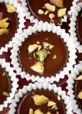 Chocolade met pistacios Royalty-vrije Stock Foto
