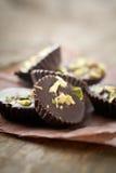 Chocolade met pistacios Stock Afbeelding