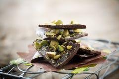 Chocolade met pistacios Royalty-vrije Stock Afbeelding