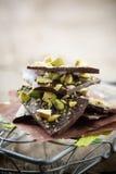 Chocolade met pistacios Stock Foto's