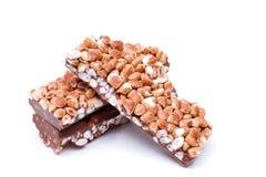 Chocolade met rijst stock afbeelding
