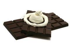 Chocolade met room Stock Afbeelding