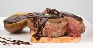 Chocolade op vlees Stock Afbeelding