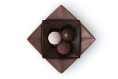Chocolade op Wit royalty-vrije stock fotografie