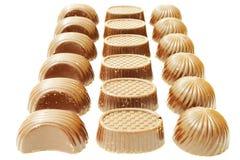 Chocolade op witte achtergrond Stock Afbeeldingen