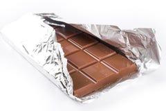 Chocolade op witte achtergrond Royalty-vrije Stock Afbeelding