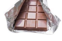 Chocolade op witte achtergrond Royalty-vrije Stock Foto's