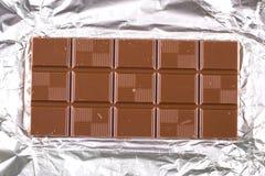 Chocolade op witte achtergrond Stock Foto