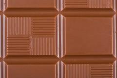 Chocolade op witte achtergrond Stock Foto's
