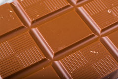 Chocolade op witte achtergrond Royalty-vrije Stock Afbeeldingen