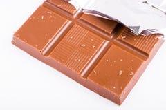 Chocolade op witte achtergrond Stock Fotografie