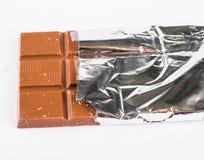 Chocolade op witte achtergrond Royalty-vrije Stock Fotografie