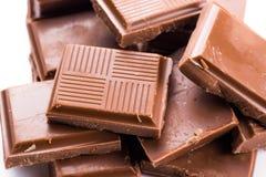 Chocolade op witte achtergrond Royalty-vrije Stock Foto