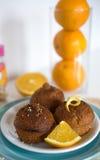 Chocolade Oranje Cupcakes Stock Fotografie
