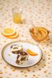 Chocolade Oranje Marmeren Cake Royalty-vrije Stock Fotografie