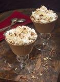 Chocolade Panna Cotta Stock Afbeelding