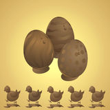 Chocolade Pasen Royalty-vrije Stock Foto's