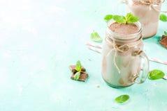 Chocolade smoothie of milkshake royalty-vrije stock foto
