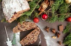 Chocolade Stollen Stock Fotografie