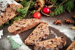 Chocolade Stollen Royalty-vrije Stock Afbeeldingen