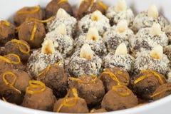 Chocolade truffels Royalty-vrije Stock Foto