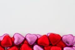 Chocolade Valentine Hearts Stock Afbeeldingen