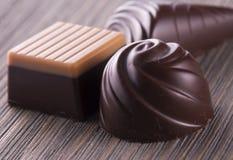 Chocolade van verschillende soorten Stock Foto