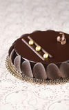 Chocolade Verglaasde Moussecake Royalty-vrije Stock Foto's