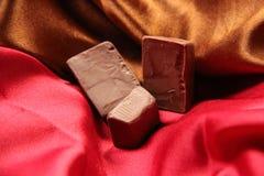 Chocolade voor valentijnskaart Stock Afbeeldingen