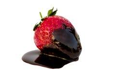 Chocoladeaardbei Stock Afbeelding