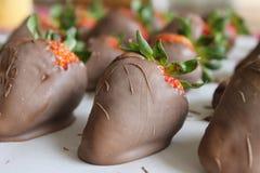 Chocoladeaardbeien Stock Afbeelding