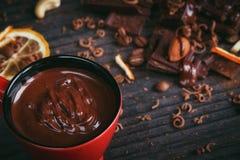 Chocoladeachtergrond Royalty-vrije Stock Foto