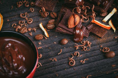 Chocoladeachtergrond Stock Fotografie