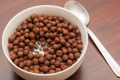 Chocoladeballen - Cornflakes Stock Foto