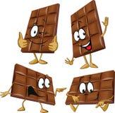 Chocoladebeeldverhaal stock illustratie