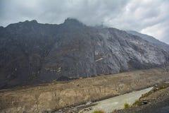 Chocoladeberg langs Karakoram-Weg stock foto's