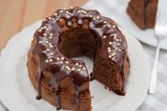 ChocoladeBiscuitgebak royalty-vrije stock afbeeldingen