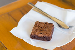 Chocoladebrownie Stock Afbeeldingen