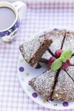Chocoladebrownie met noten en bes Royalty-vrije Stock Fotografie