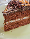 Chocoladecake Stock Foto's
