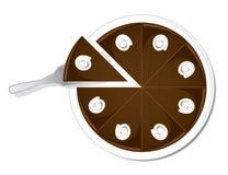 Chocoladecake Stock Afbeelding