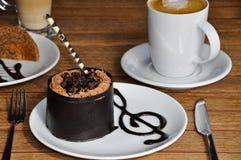Chocoladecake en koffie Royalty-vrije Stock Fotografie