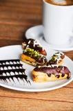 Chocoladecake en koffie Royalty-vrije Stock Afbeeldingen