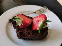 Chocoladecake royalty-vrije stock fotografie