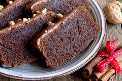 Chocoladecake voor Kerstmis royalty-vrije stock foto