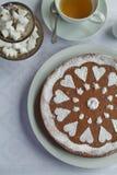 Chocoladecake voor theetijd Royalty-vrije Stock Foto