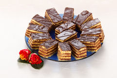 Chocoladecakes royalty-vrije stock fotografie