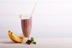 Chocoladecocktail met banaan ab Royalty-vrije Stock Foto's