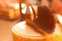 Chocoladedecoratie Royalty-vrije Stock Fotografie